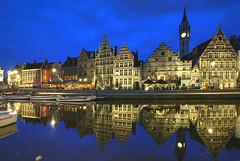 Ghent Blues (hapulcu) Tags: bluehour belgie belgien belgique belgium flanders flandre gand gent ghent vlaanderen spring