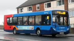 Stagecoach Merseyside & South Lancashire (Glenvale Transport) 24172 PO59MXF in torrential rain on Squires Gate Lane in Blackpool with a Preston bound 68 service. (Gobbiner) Tags: man stagecoach 24172 stagecoachmsl po59mxf e300