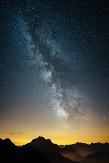 Milkey Way over Dolomites