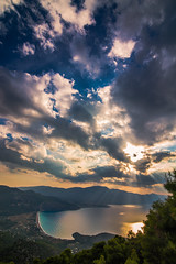 View of Psatha,Greece (Vagelis Pikoulas) Tags: psatha sea seascape landscape canon 6d tokina 1628mm sky colour colours clouds sunrays sun sunset greece europe