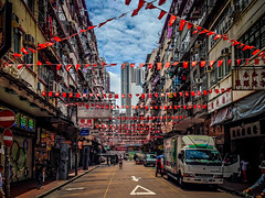 Temple Street (moaan) Tags: 香港 kowloon hk hongkong templestreet nightmarket sunday sundayafternoon underthenationalfrag quiet emptystreet memories iphone iphone5 iphonegraphty travel travelphotography