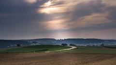 Ortseinfahrt Hoffenheim (misstilli) Tags: 2017 kraichgau deutschland germany landschaft landscape felder fields licht