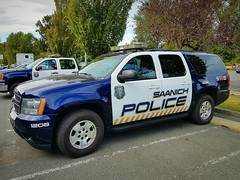 Saanich PD, BC Patrol Vehicle 1208 (walneylad) Tags: saanich britishcolumbia canada policedepartment policeservice policeforce constabulary emergencyvehicle policevehicle patrolvehicle fuzz blackandwhite blueandwhite policecar patrolcar copcar squadcar pandacar chevrolet suv 1208