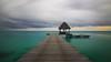 The Pier - Kia Ora Resort @ Rangiroa (Dario Manuppella) Tags: honeymoon longexposure long exposure eos 50d tokina tokina1116 nd400 hoya storm sea boat sunrise sunshine polynesia rangiroa kia ora