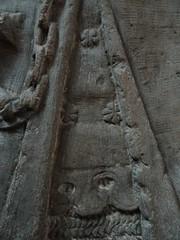 ca. 1345-1350 - 'knight, probably Werner Falk(e) (Falcke) von Munsweiler (+after 1333)', Église Notre-Dame de l'Assomption, Rouffach, dép. Haut-Rhin, France (RO EL (Roel Renmans)) Tags: 1330 1340 1345 1350 knight ritter ridder chevalier caballero cavaliere werner falk falke falcke rouffach elzas alsace elzass church église kirche kerk iglesia armor armure armour harnas harnisch rüstung armadura armatura bascinet bacinet camail aventail coatofplates plattenrock hauberk kettenhemd cotte de mailles vervelles heaume great helm helmet topfhelm gran yelmo poleyn surcotte surcoat wappenrock waffenkleid waffenrock mamelieres chain ketten sword dagger notre dame l assomption tomb effigy tombeau grabmal efigie grafbeeld