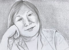 Joan Y for JKPP (Linderesa) Tags: drawing pencil portrait jkpp juliakaysportraitparty