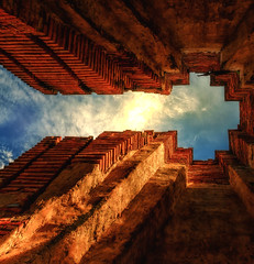 Keyhole to the sky (Stan Smucker) Tags: architecture ruins travel watprasatnakhonluang temple wat
