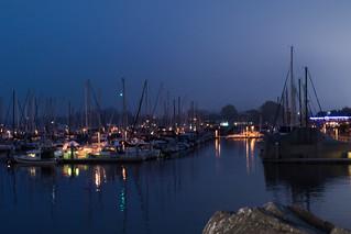 Monterey Bay at night.