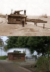One O'Clock Gun, Morpeth Dock, Birkenhead, 1880s and 2017 2 (Keithjones84) Tags: birkenhead wallasey merseyside wirral thenandnow rephotography newbrighton