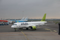 Air Baltic Bombardier CSeries CS300 YL-CSC , Schiphol airport 05.09.2017 (szogun000) Tags: amsterdam netherlands nederland aviation airport schiphol ams eham aircraft airplane plane jet jetliner airliner passenger bombardier cseries cs300 bombardiercs300 balticair ylcsc noordholland northholland canon canoneos550d canonefs18135mmf3556is
