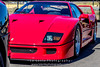 Red-Ferrari-F40-sports-car-in-sydney-by-la-lente-photography-close-up (Paul D'Ambra - Australia) Tags: car red ferrari sportscar redsportscar redferrari vehicle motorvehicle redf40