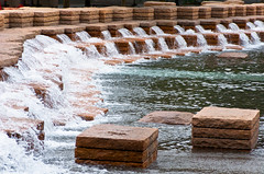 Jamison Square Stone Step Falls 2 of 3 (Orbmiser) Tags: nikkor28105mmf3545afd d90 nikon oregon portland summer jamisonsquare park fountain steps stone sculpture