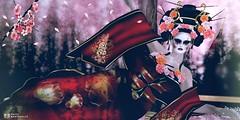 Si una mujer quiere algo, atravesará una montaña. (pattybartavelle) Tags: irrisistible swank geisha kimono second life sl japanese japan tokyo maitreya