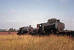 Derelict locos at Irchester (TrainsandTravel) Tags: england angleterre standardgauge steamtrains voienormale trainsavapeur dampfzug normalspur industrialrailway ironstone chemindeferindustriel pierredefer industriebahn eisenstein northamptonshire irchester