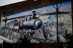 Historical Train Mural (csztova) Tags: knoxville tennessee nikond7000 35mm usa