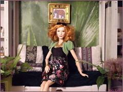 Tag Game: Doll(s) with red hair (Mary (Mária)) Tags: barbie mattel disney cinderella ladytremaine fashion diorama thai room handmade redhair look style interior lady tag game elephant marykorcek meditation plants
