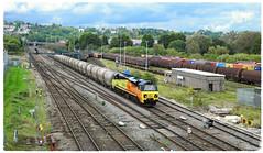 Ebbw Junction (Welsh Gold) Tags: 70810 6c36 westbery aberthaw cement train ebbw junction newport adj southwales