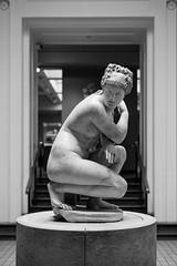 Crouching Venus (cybertect) Tags: aphrodite bloomsbury britishmuseum carlzeissplanart50mmf17 london londonwc1 sonya7 wc1 blackwhite blackandwhite monochrome sculpture