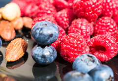 Staying Healthy - Berries and nuts every day (Maria Eklind) Tags: stayinghealthy dof eathealthy reflection spegling sweden healthymeal depthoffield bokeh raspberry macro malmö food blueberry hallon nuts closeup blåbär meal fruit colorful macromondays berries hallonochblåbär