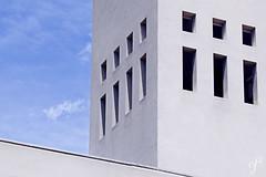 Metaphysical (Giovanni Cappiello | f.64) Tags: architecture blue morning belltower new sky rome smooth chapel church watermark white concrete roma italia ita