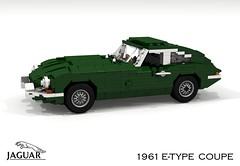 Jaguar E-Type Coupe - 1961 (lego911) Tags: jag jaguar e etype xke coupe 1961 1960s classic sportscar uk english britaish gb auto car moc model miniland lego lego911 ldd render cad povray lugnuts challenge 118 acultfollowing cult following foitsop
