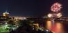 Feux sur le fleuve / Fireworks over the river (Pierre Lemieux) Tags: villedequébec québec canada ca fireworks feuxdartifice châteaufrontenac fleuve river saintlaurent stlawrence nuit night eau water villedelévis