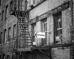 Time to turn left (Mister Blur) Tags: 35mm d7100 nikon blancoynegro bw blackandwhite nyc building city york new time left turn
