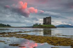 Castle Stalker (Calum Gladstone) Tags: scotland castle stalker landscape sunset epic sky moody weather leefilters canon6d