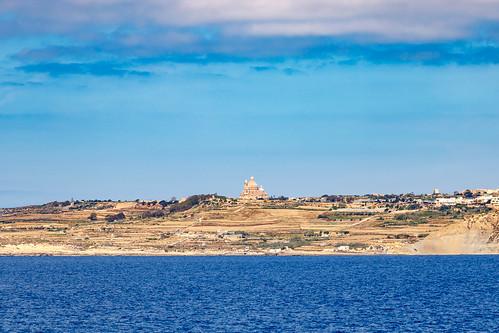Вид на Гозо с порта Чиркева