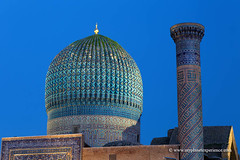 Uzbekistan (My Planet Experience) Tags: samarkand samarqand guremir guriemir mausoleum tomb blue hour dome cupola tamerlane timur temurid unesco architecture silk road route central asia oʻzbekiston узбекистан uz uzbekistan ouzbékistan myplanetexperience wwwmyplanetexperiencecom