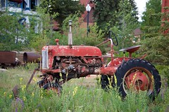 Rustic Charm (The Good Brat) Tags: colorado us meadow wildflowers red tractor antique old outdoor hotel carrmanor cripplecreek schoolhouse school 1897 goldmine