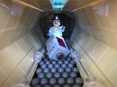 Space corridor (adde51) Tags: lego moc adde51 classic space classicspace corridor hallway spaceman crate crates floor scifi sci fi box foitsop