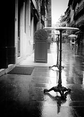 Walking in the rain (max tuguese) Tags: bw black white blackwhite blanc noir noiretblanc bianco nero schwarz weis preto branco monochrome street maxtuguese portugal portuguese building architecture urban sony digital cityscape empty rain walk walking