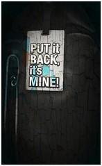 Put it back (himanshu_07) Tags: back poster wall art digital edit mine meme quote order print design brick black page