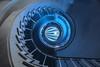Blue Spiral (Elbmaedchen) Tags: berlinwest illuminiert stairs staircase stairwell treppenauge treppenhaus treppen blau blue bleu helix roundandround upstairs curves spirale spiral berlin notblueport charlottenburg kranzler