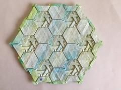 Knot tessellation - Wei Fu variation 2 back (Monika Hankova) Tags: origami tessellation wei fu paper