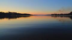 Midsommar (krissen) Tags: wideangle 21mm distagon zeiss midsummereve lake iandscape reflection bonfire sunset night sweden värmland kil fryken water midsummer