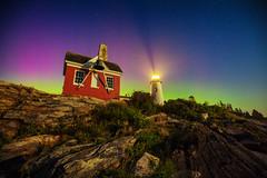 Pemaquid Aurora (Robert Clifford) Tags: 2017 5d canon maine markiii newengland newhampshire robcliffordphotography robertallanclifford robertclifford summer aurora bristol lighthouse northernlights ocean pemaquid