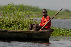 Fishing (Ring a Ding Ding) Tags: africa lakealbert murchison murchisonfallsnationalpark rivernile uganda uppernile canoe fishing nature nwoya northernregion