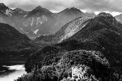 A royal Place... (Ody on the mount) Tags: allgäu anlässe berge burgenundschlösser em5ii hohenschwangau mzuiko40150 omd olympus urlaub wald bw monochrome sw schwangau bayern deutschland de
