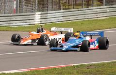 AvD Oldtimer Grandprix 2017 Nürburgring - Loic Deman on Tyrrell 010 and Steve Hartley on Arrows A4 (wolfgangzeitler.selb) Tags: avd oldtimer grandprix 2017 nürburgring tyrrell 010 arrows a4 loic deman steve hartley