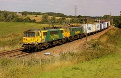 Back to Summer (Chris Baines) Tags: freightliner class 86 locos brantham felixstowe crewe basford hall