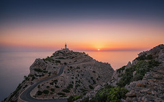Morning mood (Stefan Sellmer) Tags: lighthouse wow sunrise capformentor dawn moody holiday light longexposure summer spain color summertime rocks twilight sun mallorca seascape bluesky outdoor mediteransea seaside
