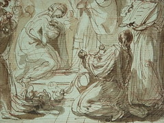 SUVÉE Joseph Benoît - La Présentation de Jésus au Temple (drawing, dessin, disegno-Louvre INV34397) - Detail 23 (L'art au présent) Tags: art painter peintre details détail détails detalles drawings dessins 17thcenturydrawings dessinsfrançais frenchdrawings peintresfrançais frenchpainters museum paris france bible adoration worship saint bless sacred holy blessed figure personnes people femme femmes woman man men virgin vierge enfant child enfance kid baby bébé childhood parents family famille croquis étude study sketch sketches dessins18e 18thcenturydrawings