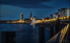 Riverfront (Norbert Clausen) Tags: thebluehour bluehour blaue stunde blue hour langzeitbelichtung longexposure reflections schlossturm lambertuskirche