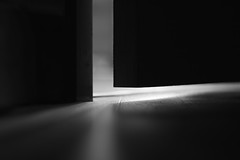 A glimpse (2nd Sight Photography) Tags: bw door shadow peeking glimpse secret floor ajar open closed blackandwhite monochrome light canon 50mm prime 2ndsightphotography oldphotonewedit
