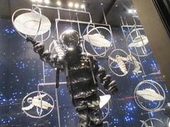 Lost In Space or Plan 9 From Outer Space Fashion 0361 (Brechtbug) Tags: lost in space fashion spaceman cosmonaut suit flying saucers store front display window department madison avenue nyc 2017 moncler near barneys new york city 09162017 bubble helmet russian astronaut men spacemen man plan 9 from outer ed wood windows universe suits astro scifi science fiction stores halloween holiday fashions clothes outfit flight orbital saucer above galaxy nine