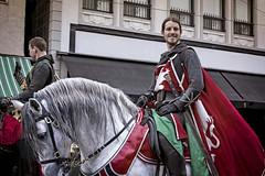 Richard the Lionheart (Gunnshots) Tags: horse animals people street costumes england knights swords capes saddles urban mythology