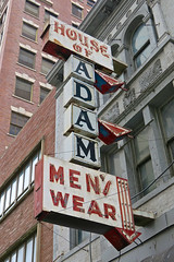 House of Adam, Cincinnati, OH (Robby Virus) Tags: cincinnati ohio oh house adam neon sign signage mens wear clothes clothing store arrow business closed retail