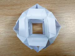 Skella Alpha Kusudama (24 units, cuboctahedron) (Brian Ritchie) Tags: kusudama mariasinayskaya skellaalpha cuboctahedron modular origami